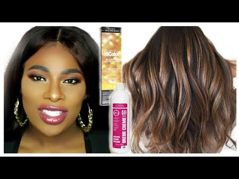 HOW TO DYE WEAVE FROM BLACK TO CHOCOLATE BROWN WITH HONEY BLONDE HIGHLIGHTS | QT HAIR ALIEXPRESS