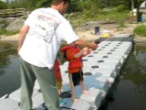 kid catches large gar pike