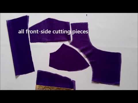 simple  bra-cut blouse cutting step-by-step demonstration (Part-1)