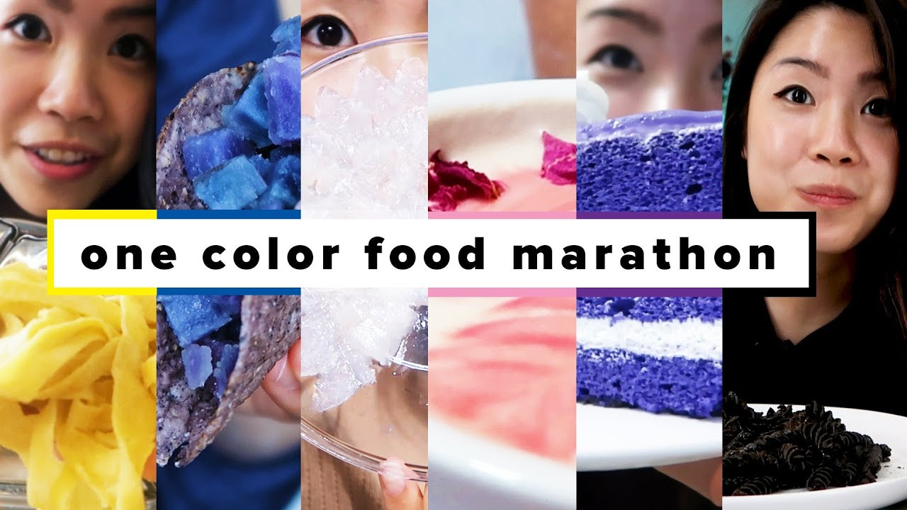 I Only Ate One Color Foods For 24 Hours Marathon