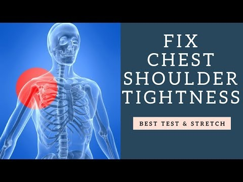 Learn How To Fix Chest Tightness and Rounded Shoulders | Best Test & Stretch For It!