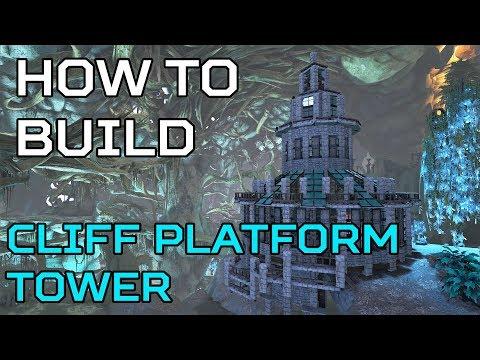 🦄 Aberration HOW TO BUILD Cliff Platform Tower    Ark Survival [NO MODS]