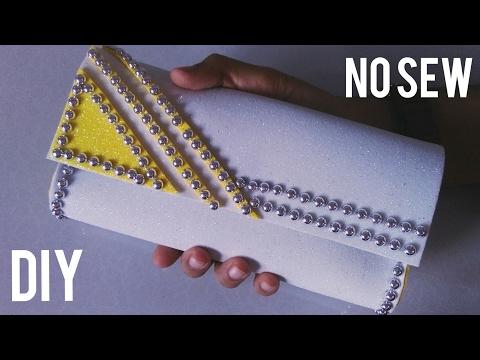 How to make Foam Sheet Clutch | No Sew | DIY Clutch
