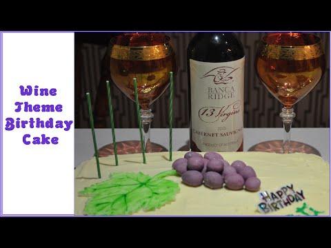 Wine Themed Birthday Cake