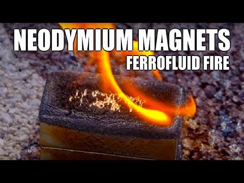 POWERFUL Neodymium Magnets, Ferrofluid, Lenz's law, collisions, and a Fresnel Lens