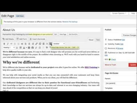 Changing Font Size & Color in WordPress