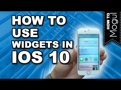 How to add widgets in iOS 10 on iPhone 7