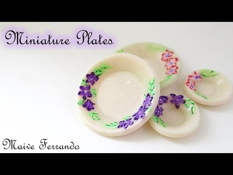 EASY Miniature Polymer FIMO Clay Plates TUTORIAL