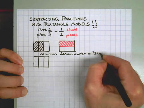 Subtracting Fractions Using Rectangle Models