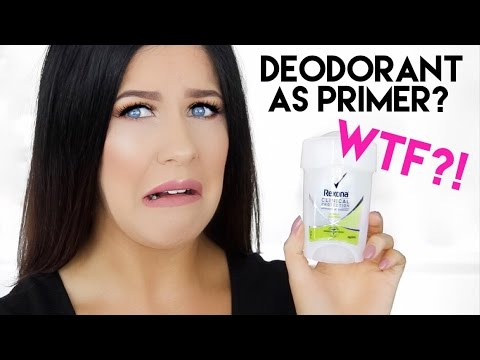 DEODORANT AS PRIMER FOR OILY SKIN?! WTF!! DOES IT WORK??