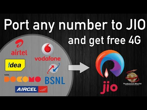 How to PORT number to Reliance JIO and get unlimited 4G and calling (September-2016)
