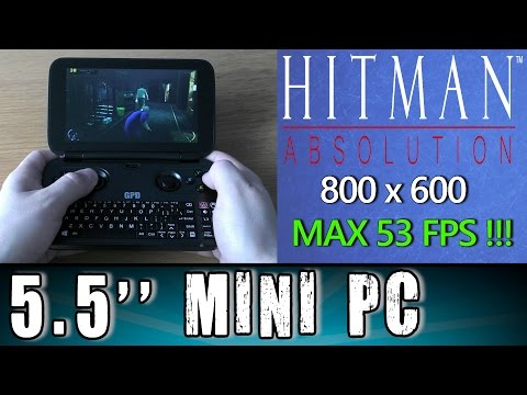 1# GPD Win Hitman: Absolution (PC) MAX 53 FPS Portable Handheld Gaming Mini PC Intel X7 Z8700