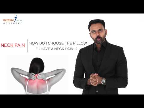 PILLOW is an important factor for NECK PAIN ' How to choose the right one ?