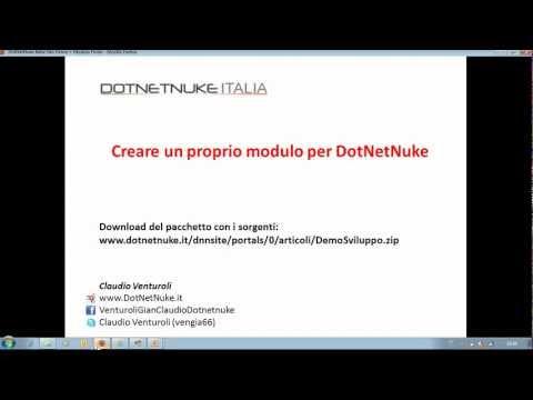 Creare un proprio modulo in DotNetNuke (Italiano)
