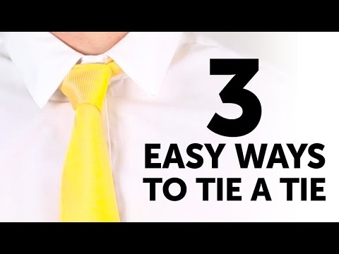 How to tie a tie in 3 unbelievably EASY ways l 5-MINUTE CRAFTS