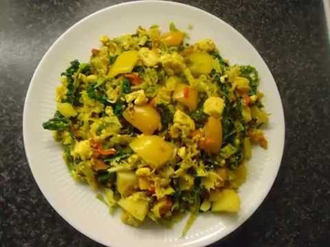 Savooiekool met Panir en aardappels (vegetarisch)