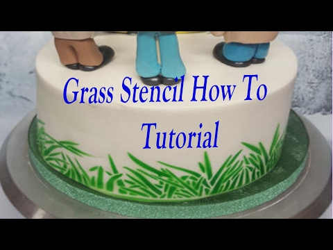 Grass stencil tutorial how to put perfect grass round your cake