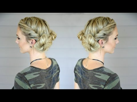 Fast and EASY Double Bun Twist
