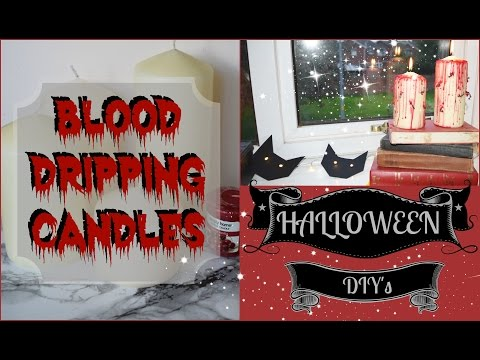 HALLOWEEN DIY BLOOD DRIPPING CANDLES // Sophie Creates