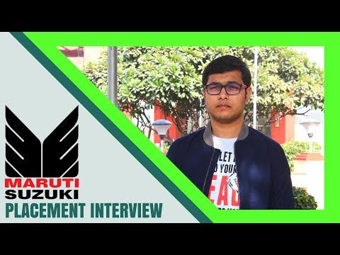 Job Interview | Maruti Suzuki Interview Experience | Question and Answers