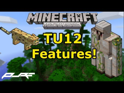 Minecraft Xbox 360: TU12 Features! | Iron Golems | Ocelots | Jungle Biome