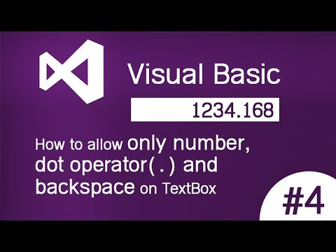 [VB.Net] How to allow only number,decimal (dot operator) and backspace on TextBox