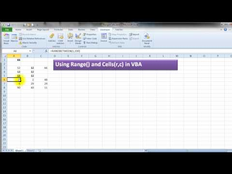 Excel VBA Range/Cell reference