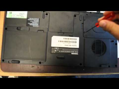 How to remove hard drive from Toshiba Satellite  M65 S9092 Laptop