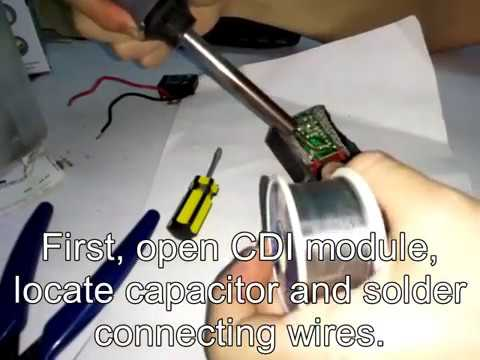 How to modify motorcycle CDI to increase spark intensity?