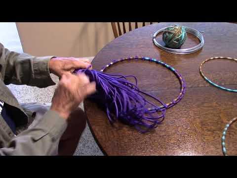 Planter Drum, How to tie Starter Knots on Drum Hoops