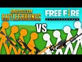 PUBG Vs Free Fire Stickman Animation
