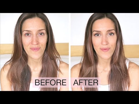 EYE MAKEUP FOR ROUND EYES - Natural NO FOUNDATION Makeup Tutorial | natalie danza