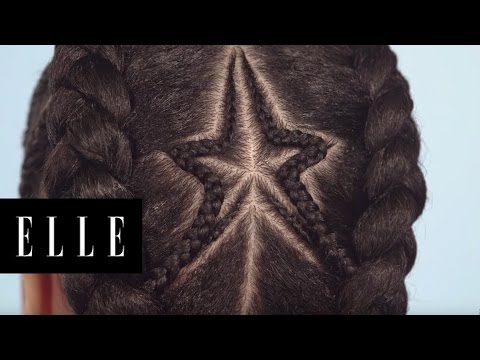How to Do a Star Braid on Natural Hair | ELLE