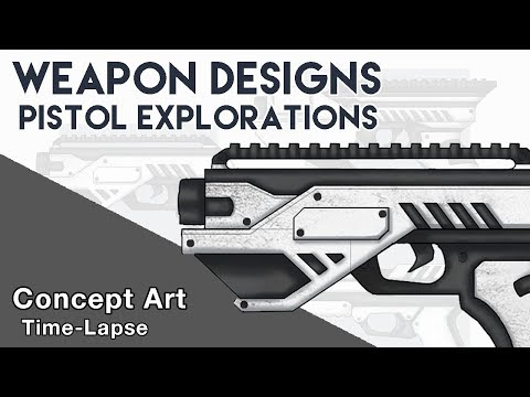 Learn How To Design Awesome Pistol Concepts! | Concept Art (Weapon Design) | Digital Illustration