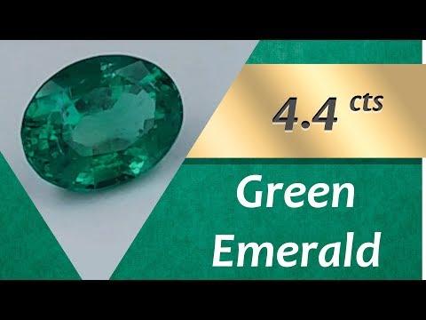 Green Emerald. 4.4 Carats Natural Green Emerald