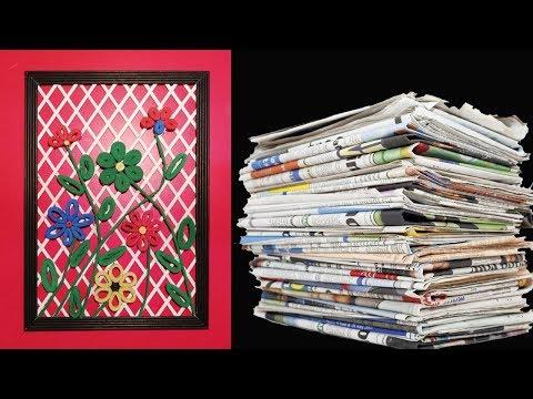 DIY Wall decor frame | Newspaper Craft Idea LifeStyle Designs