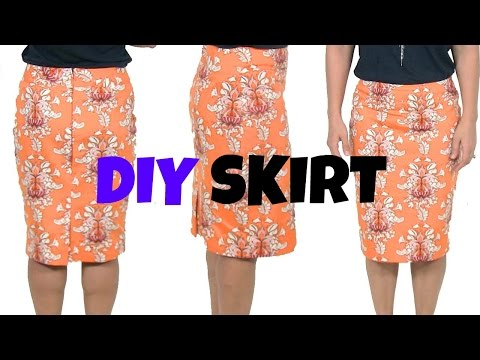 DIY Skirt-How To Sew A Skirt* beginners sewing project