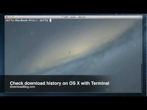 Check download history on OS X with Terminal