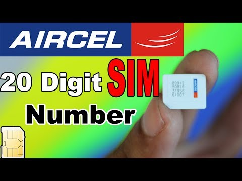 How to know AIRCEL 20 digit SIM Number | ICCID Number | Techno Baaz