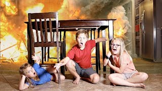 EXPLOSION at our HOUSE! Hide and Seek Game