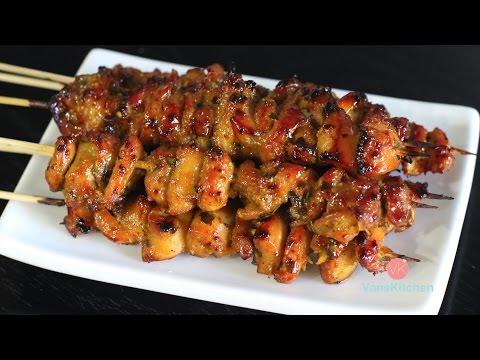 Vietnamese lemongrass chicken skewers (Gà xiên nướng)