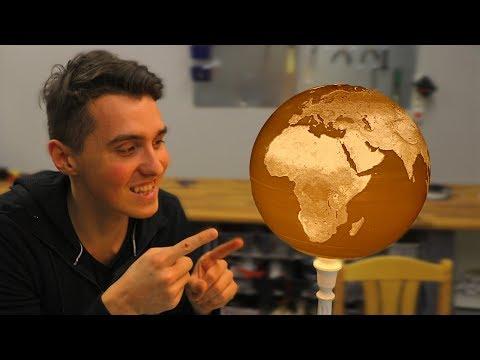 HUGE 3D Printed Spherical Lithophane Globe - 100H PRINT!!!