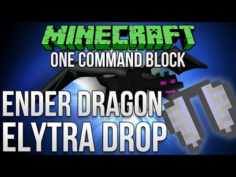 Minecraft 1.9: How To Make The Ender Dragon Drop Elytra Tutorial (Works With Realms)