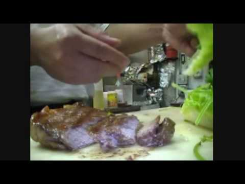 Making Laos steak spicy dipping sauce by chef Poungern