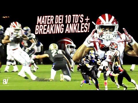Mater Dei BREAKING ANKLES! #1 Team in NATION SCORES 70 POINTS! League Opener vs Santa Margarita