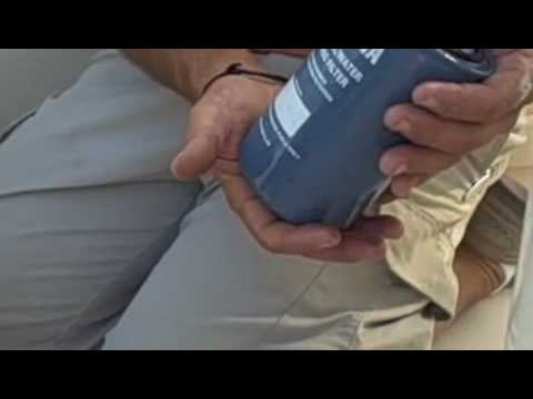 How to change a fuel-water separator in a Yamaha outboard motor.