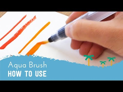 How to Use a Water Brush Pen - Aqua Brush Tutorial | Stationery Island