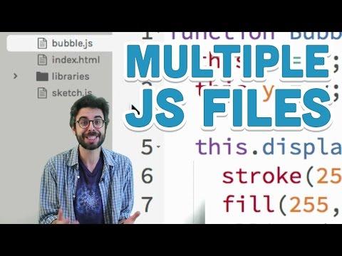 7.5: Multiple js Files - p5.js Tutorial