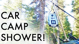 Hanging a Camp Shower Without Trees (From Your Car!) (Vandwelling/Car Camping Tip)