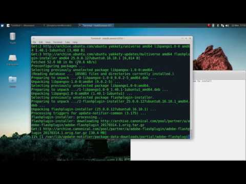 How to install Adobe Flash on Ubuntu 16.10